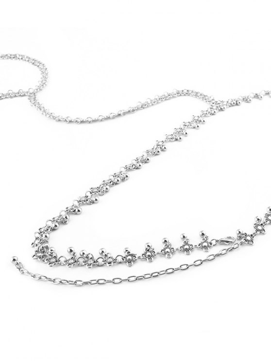 Alloy Flower Vintage Body Chain - SILVER  Mobile