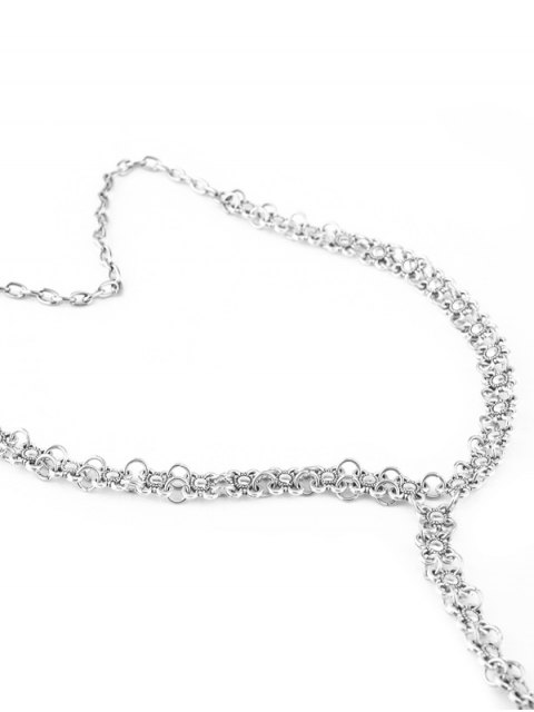 online Alloy Flower Vintage Body Chain - SILVER  Mobile