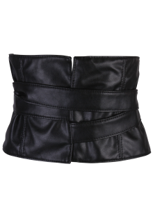 Adjustable Strappy PU Leather Corset Belt