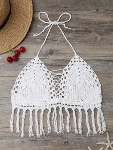 Fringes Tied Crochet Swim Top