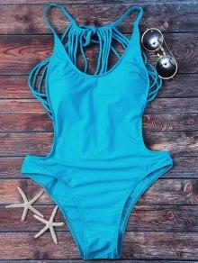 Strappy Thong Swimwear - Lake Blue