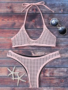 Square Laser Cut Bralette Bikini
