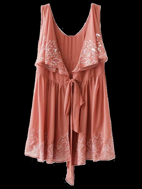 Bordado del traje del vestido sin mangas - La Tierra Roja S