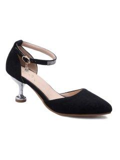 Stiletto Heel Two-Piece Pumps - Black 39