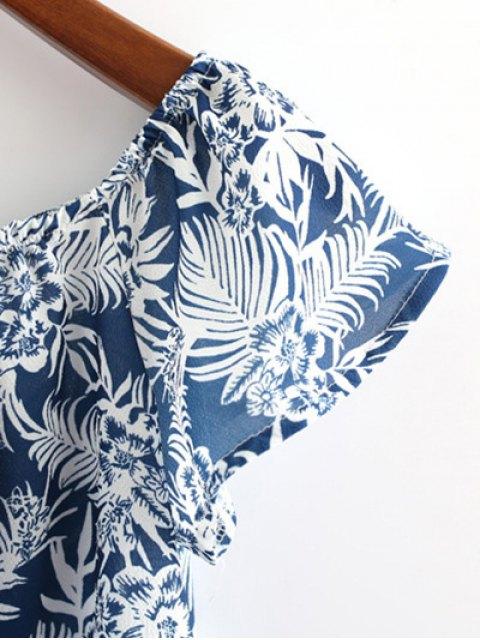women Off Shoulder Printed Crop Top - CADETBLUE S Mobile