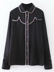 Button Up Peter Pan Collar Shirt