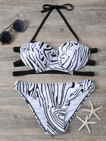 Zebra Print Underwire Bikini