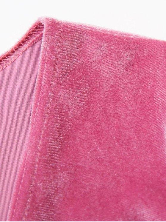 Bowknot Cut Out Bodysuit - PINK L Mobile