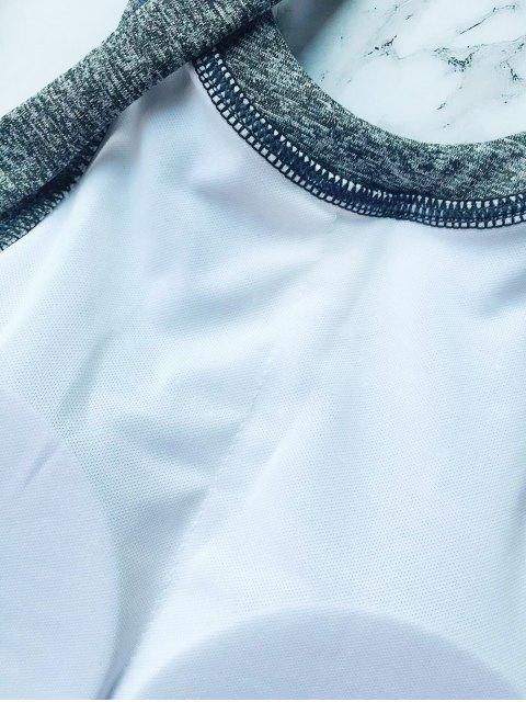 trendy High Neck Padded Thong Bikini - GRAY S Mobile
