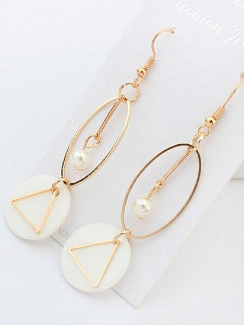 sale Artificial Pearl Geometric Drop Earrings - GOLDEN  Mobile