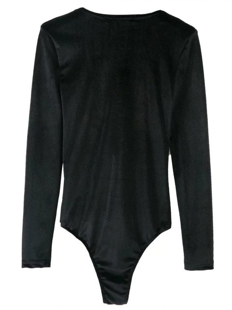 online Bowknot Cut Out Bodysuit - BLACK S Mobile