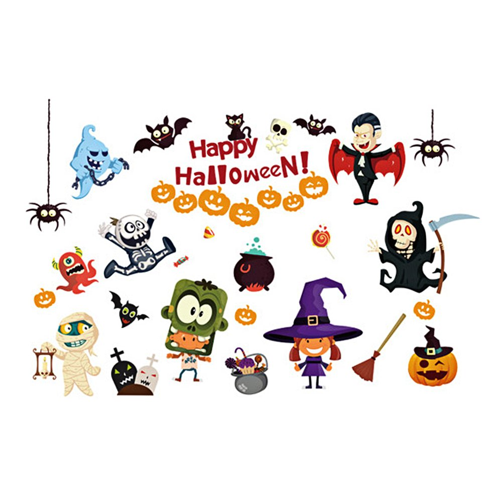 Halloween Cartoon Room Decorative Wall Stickers For Kids Rooms 195455701