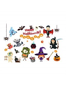 Chambre Cartoon Halloween Amovible Sticker Mural Décoratif