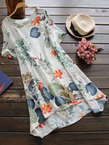 Printed Cotton Shift Dress