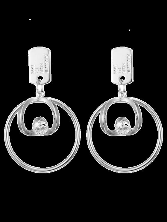 Boucles d'oreilles en cercles de strass - Argent