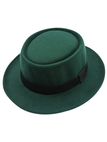 Flat Top Felt Jazz Hat