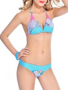 Back Tie Halter Paisley Bikini