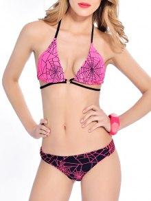 Back Tie Strappy Bikini Set