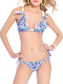 Knitting Panel Camouflage Bikini Set