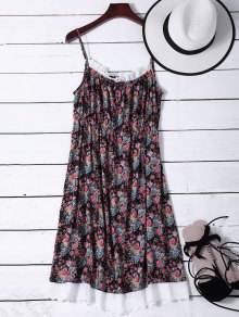 Flower Lace Panel Night Dress
