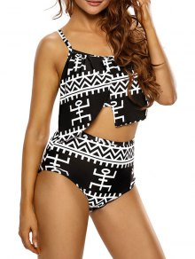 Asymmetric Layers High Waisted Bikini