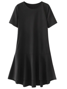 Ruffle Hem High Low Dress