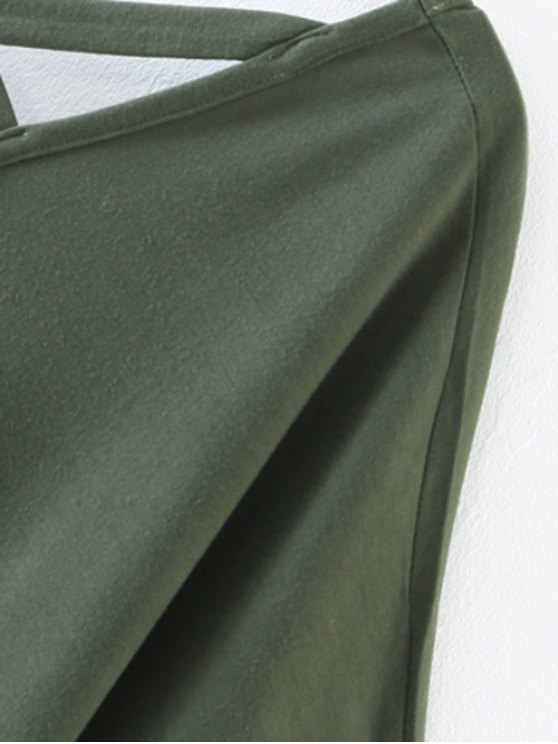 Oversized Crosscriss Top - ARMY GREEN S Mobile