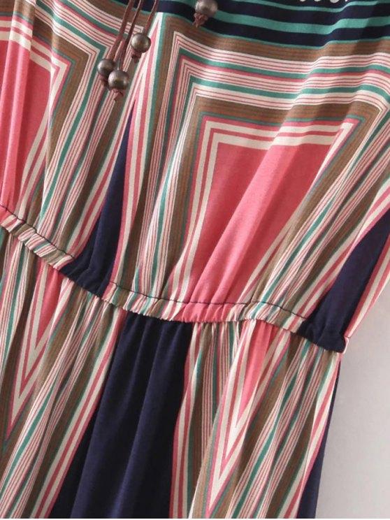 Geometric Print Maxi Slip Dress - COLORMIX XL Mobile