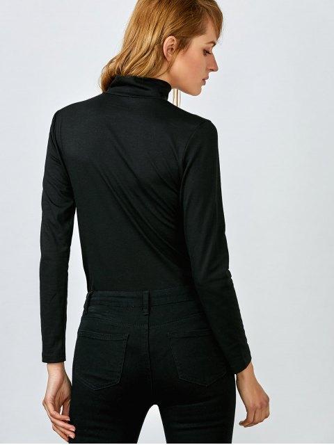 women's Cut Out Layering Bodysuit - BLACK S Mobile