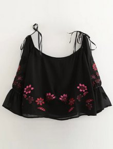 Floral Embroidered Off Shoulder Blouse