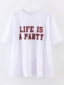 Oversized Life Is A Party T-Shirt