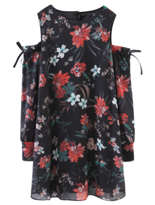 Floral Off The Shoulder Vintage Dress