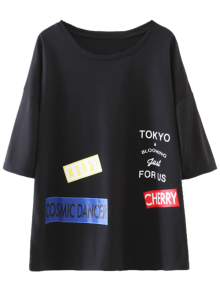Oversized Patched Tee