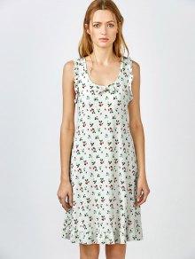 Bowknot Frilled Sleep Dress