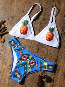 Pineapple Padded Cute Bathing Suit