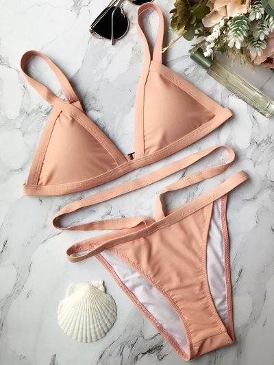 Acolchada Cadena Bikini Congregado - Rosa L