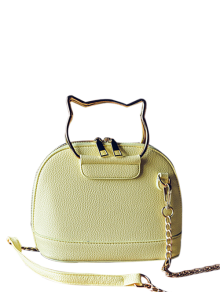 Candy Color Crossbody Bag With Chains - Yellow