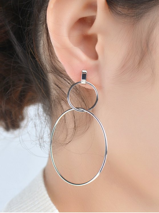 Circles Earrings - SILVER  Mobile