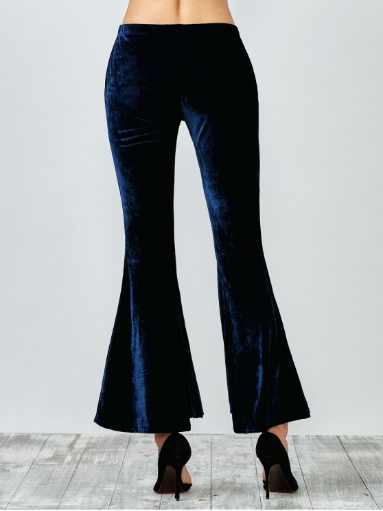 Flared Velvet Pants - PURPLISH BLUE XL Mobile