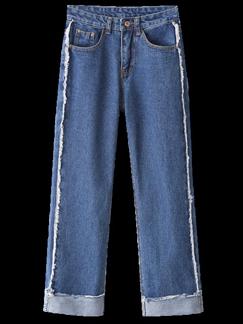 new Cutoffs Cuffed Jeans - LIGHT BLUE L Mobile