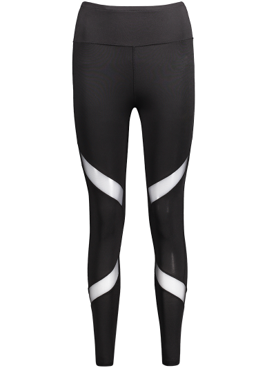 Skinny Mesh Panel Sports Leggings