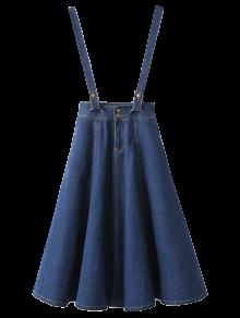 Suspender Denim Skirt