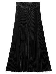 Pleated Capri Wide Leg Pants