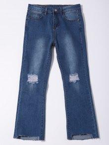 Lamentando el dobladillo asimétrico Capri Jeans