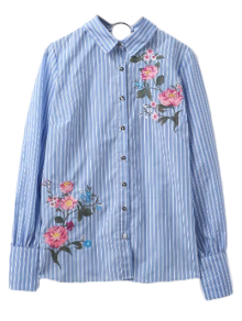 Embroidered Hoop Back Shirt