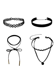 Colliers chokers en velours et en cuir artificiel