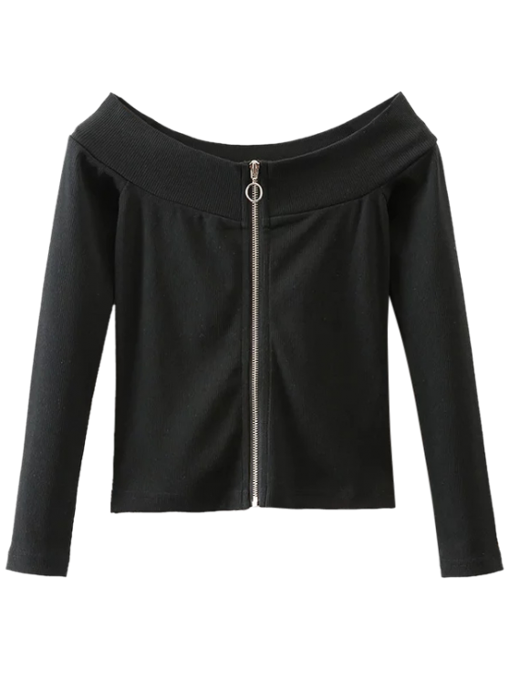 Zip Up Off The Top épaule - Noir M