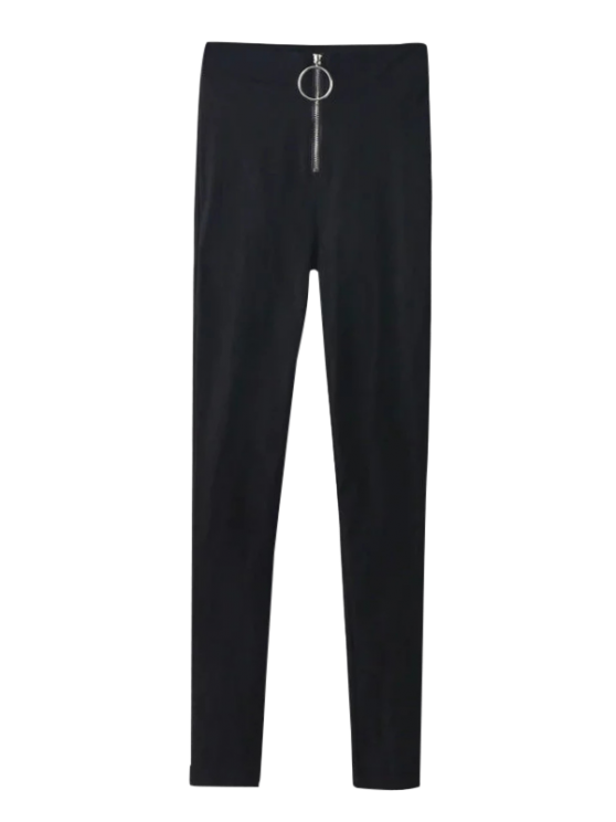 womens Skinny High Waist Pants - BLACK S