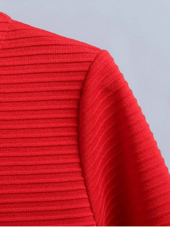 Flounce Trim Drop Waist Jacquard Dress - DEEP BLUE S Mobile