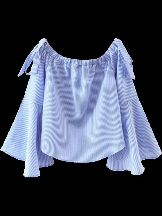Campana de la manga de la parte superior del hombro - Azul y Blanco L